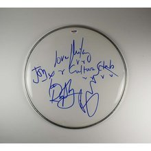 Culture Club Band Drumhead Signed Certified Authentic PSA/DNA COA