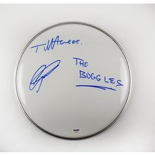 Buggles Trevor Horn and Geoff Downes Signed Drumhead Certified Authentic PSA/DNA COA