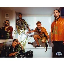 Backstreet Boys by all 5 Signed 8x10 Photo Certified Authentic Beckett BAS COA