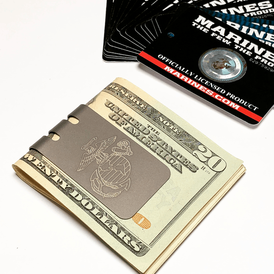 mini-VIPER Money Clip with engraved Eagle Globe and Anchor