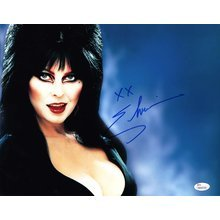 Elvira Mistress of the Dark Signed 11x14 Photo Certified Authentic JSA COA