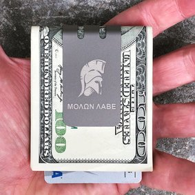 The mini-VIPER™ titanium money clip - SPARTAN on NASA Optical Gray Finish - PRE-ORDER - SHIPS APPROX. OCT 30, 2019
