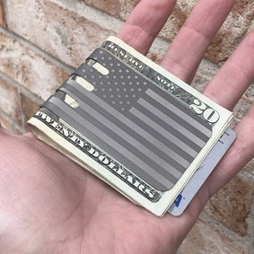 The VIPER™ money clip - FLAG on NASA Optical Gray Finish