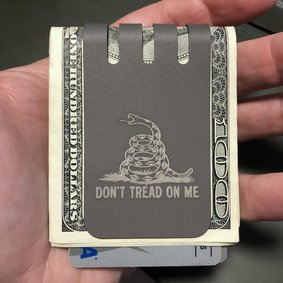The VIPER™ money clip - DON'T TREAD ON ME - NASA Optical Gray Finish