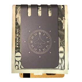 The VIPER™ titanium money clip - HEADING INDICATOR on NASA Optical Gray Finish