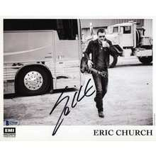 Eric Church Signed 8x10 Promo Photo Certified Authentic Beckett BAS COA AFTAL