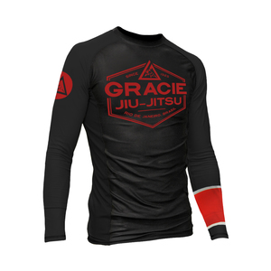 Black Rank Long-Sleeve Rashguard (Men)