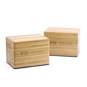 Bamboo Handstand Blocks x2 | YOGABODY® Original with Non-Slip Rubber Bottoms | FREE DVDs and online Pose Chart