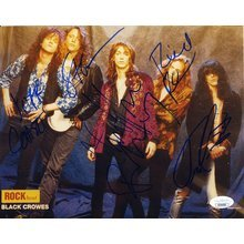 The Black Crowes by 5 Signed 8x10 Photo Certified Authentic JSA COA