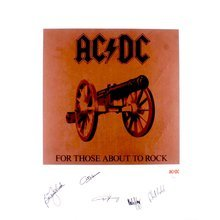 AC/DC ACDC Artist Proof 22x28 Lithograph Certified Authentic JSA COA