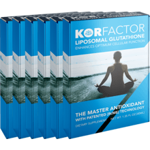KORfactor™ Liposomal Glutathione 1.35FL OZ SIX BOXES Special