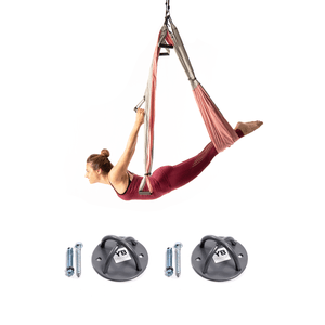 Free Shipping! Baby Pink Yoga Trapeze® and Ceiling Hooks Bundle