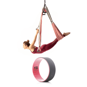 Baby Pink Yoga Trapeze® and Baby Pink Wonder Wheel Bundle