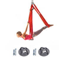 Yoga Trapeze - Orange - w/Ceiling Hooks, FREE Shipping & DVD