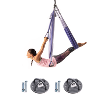 Free Shipping! Purple Yoga Trapeze® and Ceiling Hooks Bundle