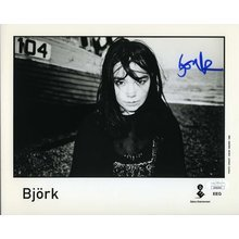 Bjork Sugarcubes Signed 8x10 Promo Photo Certified Authentic JSA COA