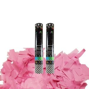 pink confetti cannon for girl gender reveal