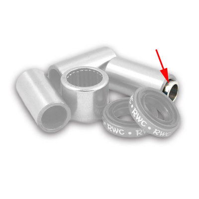 8mm x 6mm Alum Reducer Sleeve for 19 to 20mm spans