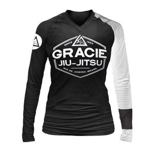 White Rank Long-Sleeve Rashguard (Women)