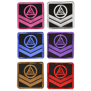 "Adult Velcro Chevron Patch (4x4"")"