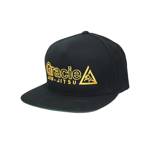 GJJ Embroidered Snapback Hat (Black)
