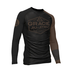 Brown Rank Long-Sleeve Rashguard (Men)