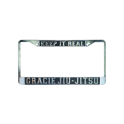 """Keep it Real"" Gracie Jiu-Jitsu Chrome License Plate"
