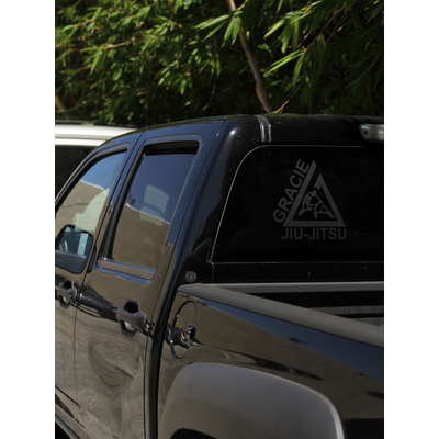 "(10x10.5"") Large Black Triangle Thermal Dye Cut Sticker"