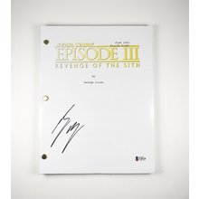 Ewan McGregor Star Wars Signed Script Certified Authentic BAS COA