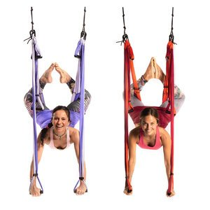 Wholesale Yoga Trapeze Mixed Colors Purple and Orange - 10 Units