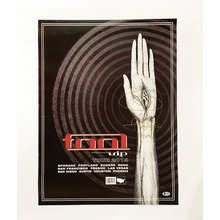 Adam Jones Tool 2014 Tour VIP Guest Package Signed Poster Certified Authentic BAS COA