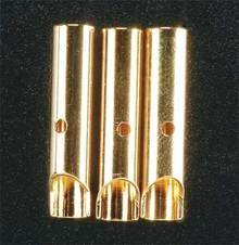 Gold Plated Bullet Conn Female 4mm (3)