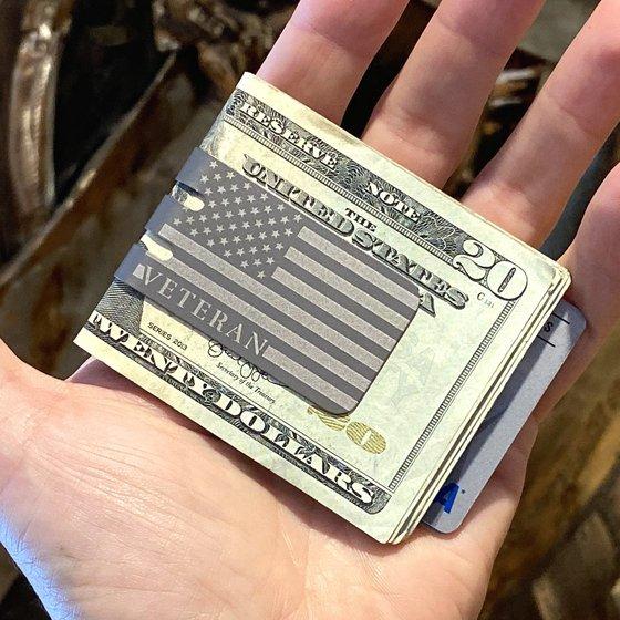mini-VIPER™ Money Clip - VETERAN USA FLAG - NASA OPTICAL FINISH