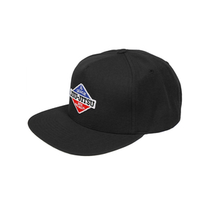 GJJ Duo Patch Snapback Hat (Black)