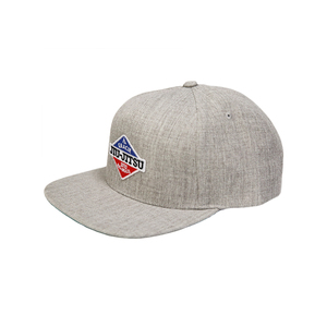 GJJ Duo Patch Snapback Hat (Heather Gray)