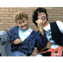 Bill & Ted's Excellent Adventure Reeves and Winter Signed 11x14 Photo Certified Authentic PSA/DNA COA
