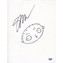 Seth MacFarlane Family Guy Stewie Signed 8x10 Sketch Certified Authentic PSA/DNA COA