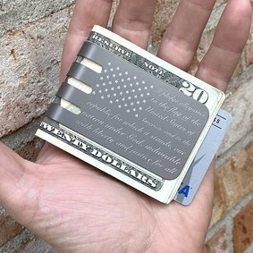 The VIPER™ money clip - FLAG PLEDGE on NASA Optical Gray Finish
