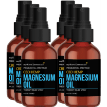 CBD/HEMP Pure Magnesium Oil- 6 Bottles (4 fl oz)