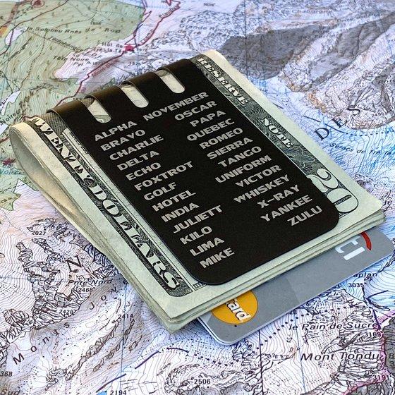 LIMITED EDITION!!  The VIPER™ Money Clip NATO Alphabet