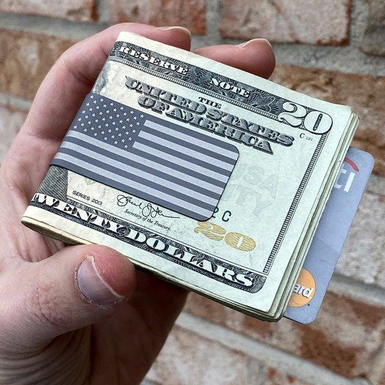 TITAN™ Money Clip - NASA Optical Gray - Precision Engraved American Flag
