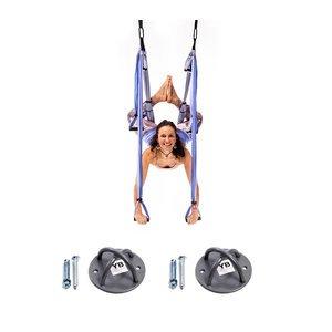 Yoga Trapeze - Indigo - w/Ceiling Hooks, FREE Shipping & Digital programs