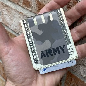 The VIPER™ money clip - ARMY CAMO on NASA Optical Gray Finish
