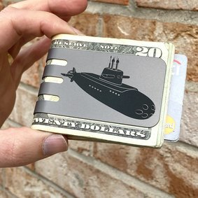The VIPER™ money clip - Submarine on NASA Optical Gray Finish