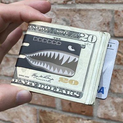 Black Diamond mini-VIPER Money Clip - PLANE NOSE ART SHARK