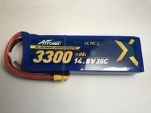 14.8V 3300mAh 35C LiPo Battery with XT60 Connector