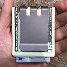 Upgraded COMMANDER™ 2.0 Money Clip - Massive 60 folded bill capacity - NASA Optical Gray Finish