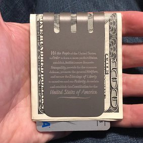 The VIPER™ money clip - Constitution Preamble on NASA Optical Gray Finish