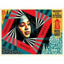 "Obey Giant ""Creativity, Equity, Justice"" Signed Screen Print"