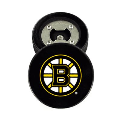 Boston Bruins® Real Puck Bottle Opener